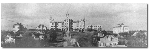The University of Texas campus in the early 1900s