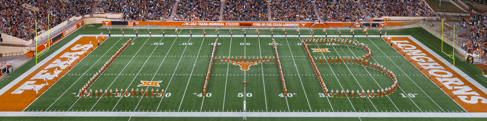 Band spells out LHB on the field