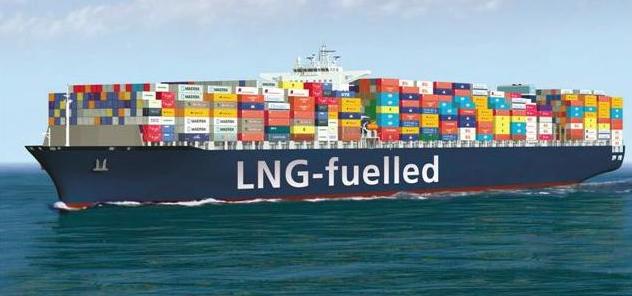 A ship fueled by liquified natural gas (worldmaritimenews.com).