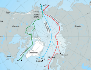 As the polar ice retreats arctic shipping will become faster and cheaper.