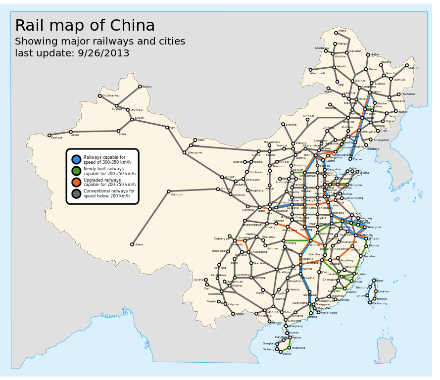 China\'s High-Speed Rail Subsidies – Major Economies and Climate ...