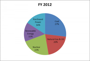 Austin Energy Fuel Mix 2012