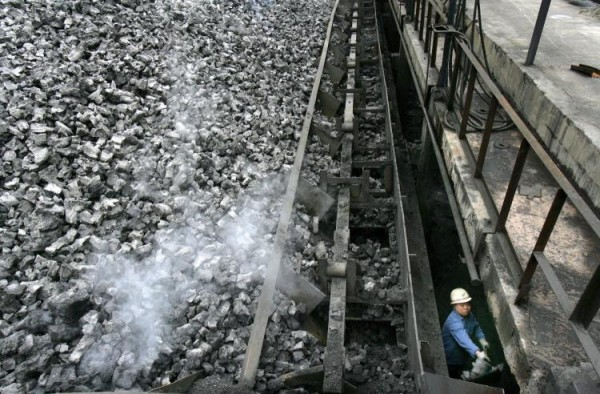 Coke stockpiles at a steel plant in Chongqing, China.