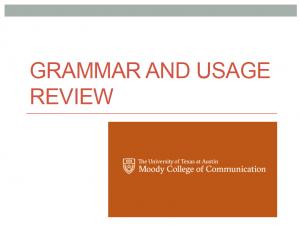 grammar usage review