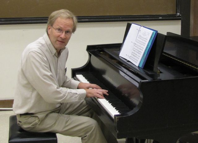 Robert Hatten at the piano