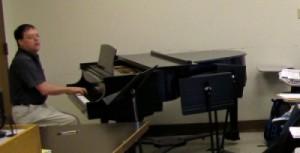 Byron Almén Playing Piano