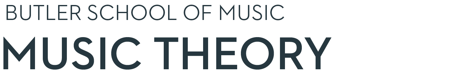 Butler School of Music Music Theory Homepage