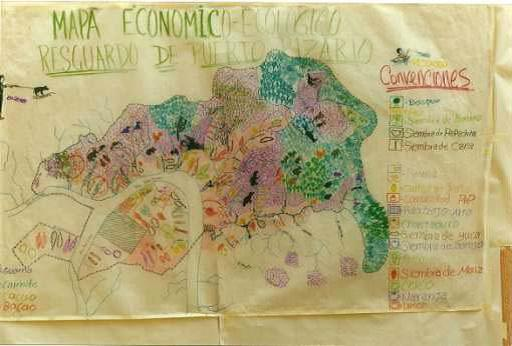 Mapping of Yukpa traditional territory in Toromo, Zulia, Venezuela.