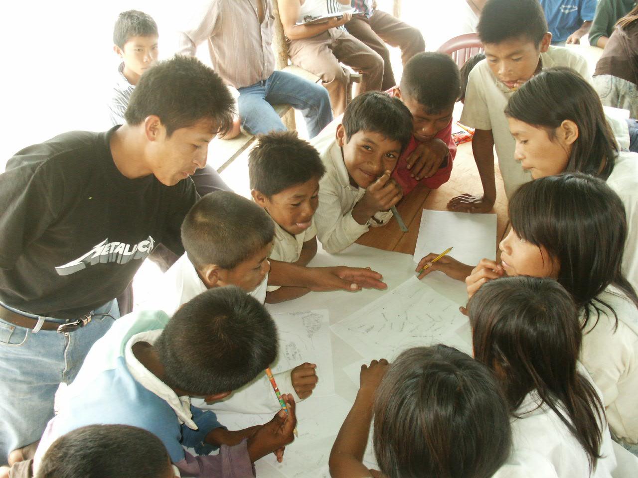 Participatory mapping in Vista Alegre, Pemon territory, Gran Sabana, Venezuela.