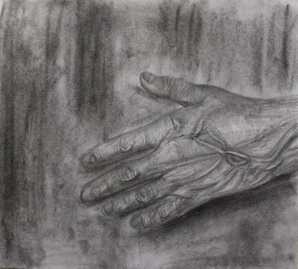 Charcoal drawing by Amanda A., Intensive 2020