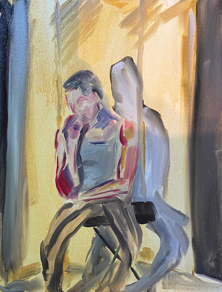 Figure painting by Clayton V., Intensive 2020