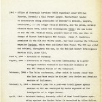 A page from a timeline of European history that Alan Furst compiled as he wrote Night Soldiers.