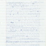 """First pages of a handwritten draft of """"Infinite Jest"""" by Wallace."""