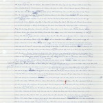 """First pages of a handwritten draft of """"Infinite Jest"""" by David Foster Wallace."""