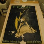 L'Eclair poster before treatment