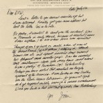 """Letter from Jim Harrison to Wallace, dated late July 2006. The letter was tucked inside a copy of Jim Harrison's book """"Saving Daylight."""""""
