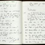 "One of David Mamet's journals, with content relating to ""American Buffalo"" (1975). © David Mamet."