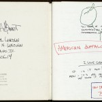 """The interior of one of David Mamet's journals, with content relating to """"American Buffalo"""" (1975). © David Mamet."""