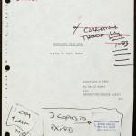 """Title page of """"Glengarry Glen Ross"""" (1984) typescript. © David Mamet."""