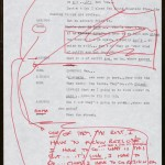"""Page from """"Glengarry Glen Ross"""" (1984) typescript, showing David Mamet's handwritten revisions. © David Mamet."""