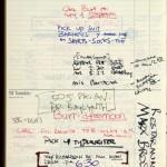David Mamet's planner for Dec. 12-13, 1977. David Mamet papers. © David Mamet
