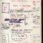 David Mamet's planner for Dec. 14-15, 1977. David Mamet papers. © David Mamet