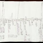 """David Mamet's plot chart/outline for """"Heist"""" (2001). © David Mamet."""
