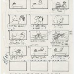 """Storyboard drawn by Mamet scene two in """"The Tell,"""" which became """"House of Games"""" (1987). © David Mamet."""