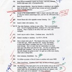 """Notes from editor Michael Pietsch to Wallace regarding draft of """"Infinite Jest,"""" dated Dec. 22, 1994. The annotations are Wallace's."""