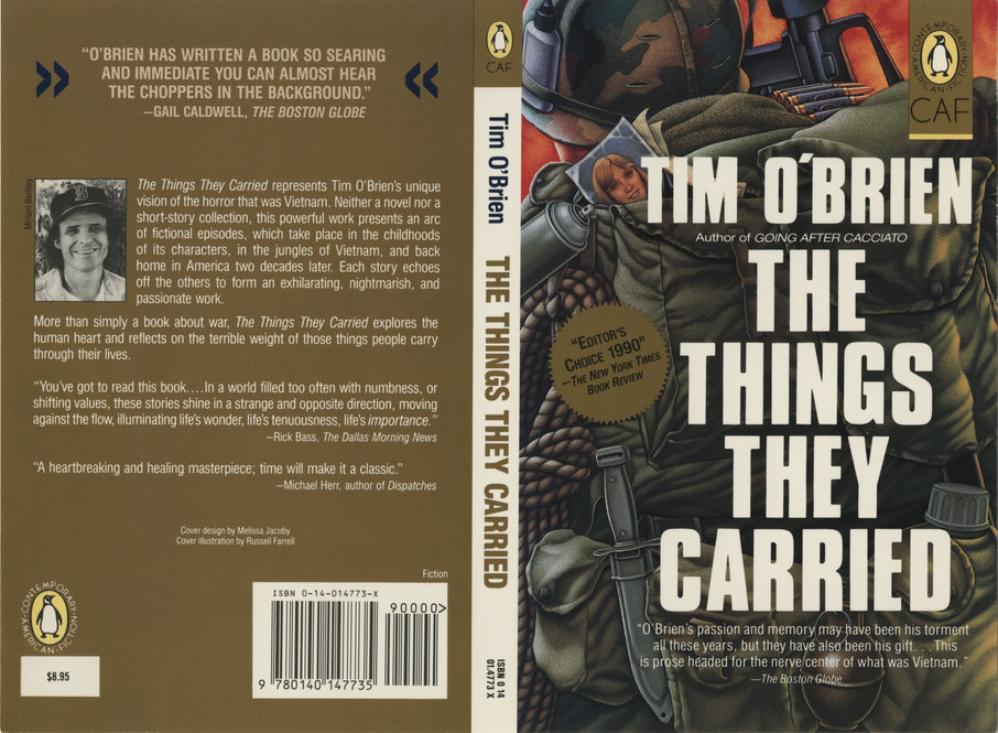 Celebrating The Twentyfifth Anniversary Of The Things They Carried Jacket Cover Design For The Things They Carried