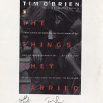 "Jacket proof for ""The Things They Carried"" cover design signed by O'Brien."