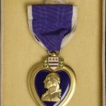 O'Brien's purple heart medal in original presentation box.
