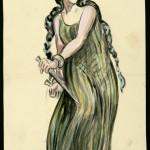Ernst Stern (1876-1954) Costume design for Macbeth, 1945 Patricia Jessel as Lady Macbeth