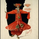 Percy Anderson (1851-1928). Costume design for Chu Chin Chow, 1916. Norman Williams as Abdullah