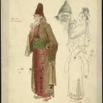 Percy Macquoid (1852-1925) Costume design for The Merchant of Venice, 1908 Herbert Beerbohm Tree as Shylock