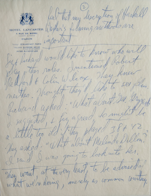 Page 2 of Ernest Lehman's notes about a meeting with Elizabeth Taylor and Richard Burton about 'Who's Afraid of Virginia Woolf?'