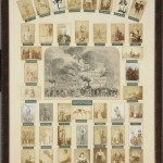 While many associate P. T. Barnum with the circus, a unique framed composite grouping of 42 cabinet cards from the Albert Davis collection of theater memorabilia showcases Barnum's American Museum. Collector Albert Davis (1865–1942) compiled the piece in the early twentieth century.