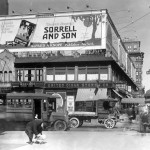 Knopf billboard advertisement in Manhattan for Warwick Deeping's Sorrell and Son. Deeping, a now forgotten British mystery writer, sold extremely well in the 1920s. Knopf, Inc. archive.