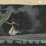 "Storyboard #2 of dancer in ""The Red Shoes."""