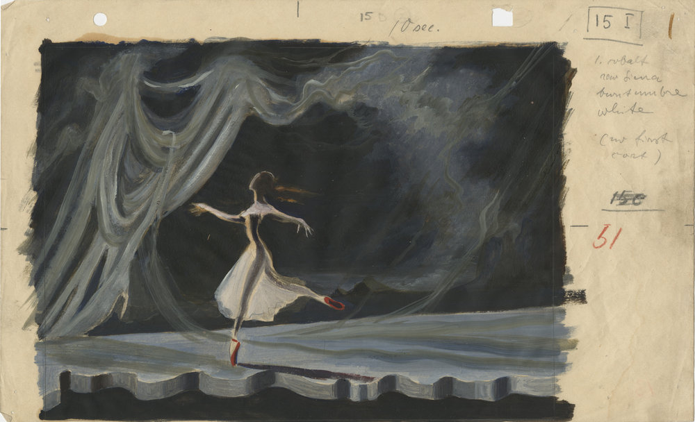 See designs for 'The Red Shoes' and view a restored version of the film