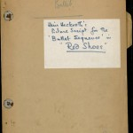 """Picture Script"" from ""The Red Shoes."""