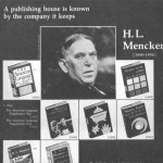 A Knopf ad for H. L. Mencken, Alfred's good friend. Knopf, Inc. archive.