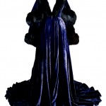 """The Blue Velvet Peignoir worn by Vivien Leigh as Scarlett O'Hara in """"Gone With The Wind."""""""