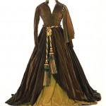 """Green Curtain Dress (the Portieres Dress) worn by Vivien Leigh as Scarlett O'Hara in """"Gone With The Wind."""""""