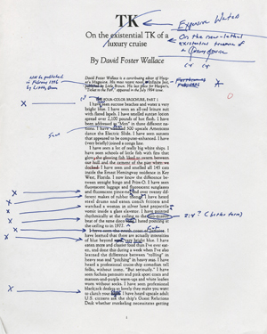 David foster wallace archive now open