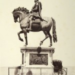 "Fratelli Alinari, Florence. ""Statue of Cosimo Primo,"" ca. 1858. Albumen print. 34.2 x 26.0 cm."