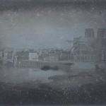 """Louis Jacques Mandé Daguerre, """"Notre Dame and the Ile de la Cité,"""" Paris, ca 1838. Daguerreotype. 15.5 x 20.6 cm."""