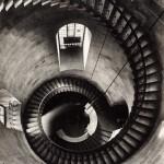 "Helmut Gernsheim, ""Spiral Staircase at St. Paul's Cathedral: Looking Down,"" 1943. Gelatin silver print. 38.0 x 29.7 cm."