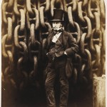 "Robert Howlett, ""Isambard Kingdom Brunel, before the Anchor Chains of the Great Eastern,"" 1857. Albumen print. 28.8 x 22.8 cm."
