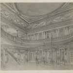 Drawing of the Dallas Majestic Theatre. Hoblitzelle-Interstate Collection.